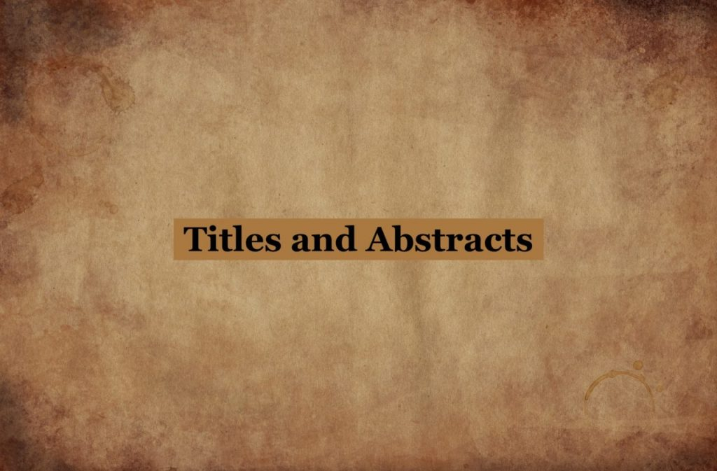 titles abstracts academic papers