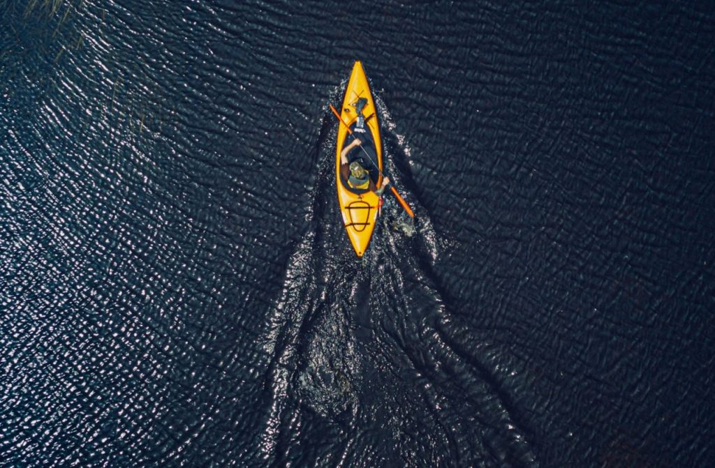aerial view rowing